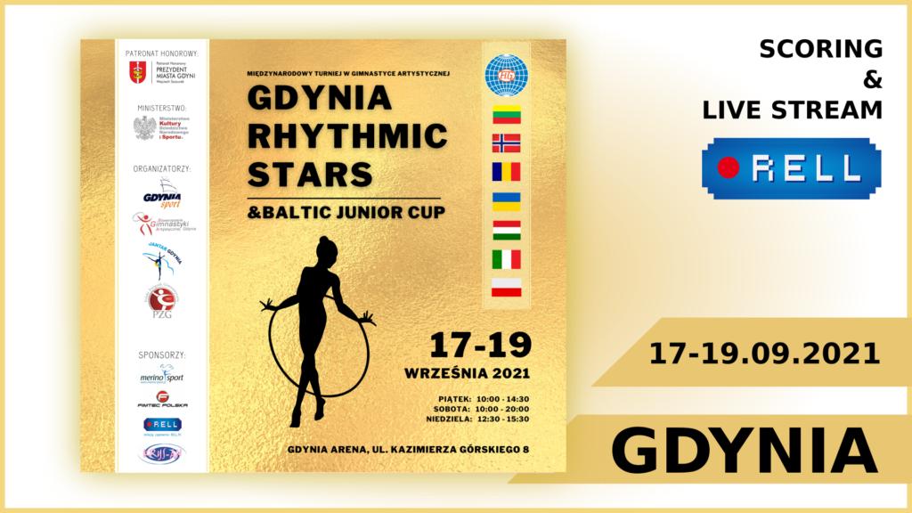 GDYNIA RHYTHMIC STARTS & BALTIC JUNIOR CUP 2021  - transmisja na żywo on-line z zawodów gimnastyki artystycznej