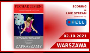 PUCHAR JESIENI - UKS IRINA - WARSZAWA 2021 - transmisja z zawodów na żywo on-line